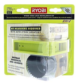Ryobi A99DLK3 3-Step Wood Door Lock Installation Kit with Auto ...