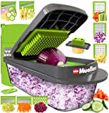 Mueller Heavy Duty Vegetable Chopper Dicer Mincer Mandoline Slicer - Food Chopper, Vegetable Slicer -Salad Chopper…