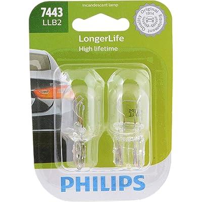 Philips 7443LLB2 LongerLife Miniature Bulb, 2 Pack: Automotive