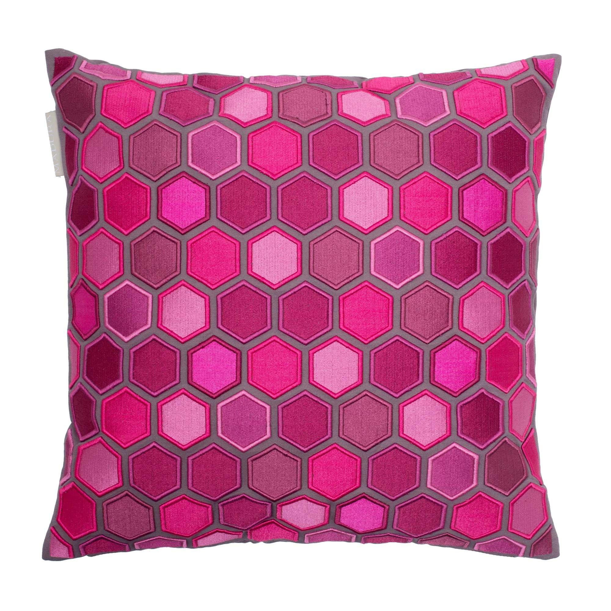 Madura Decorative Pillow - Throw Pillow cover Honey 16X16 Deep Pink