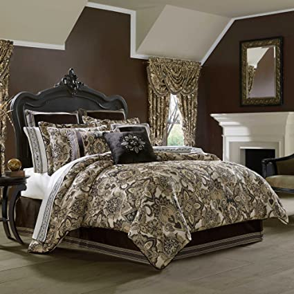 Amazon Com J Queen New York Paloma Comforter Set In Gold Queen