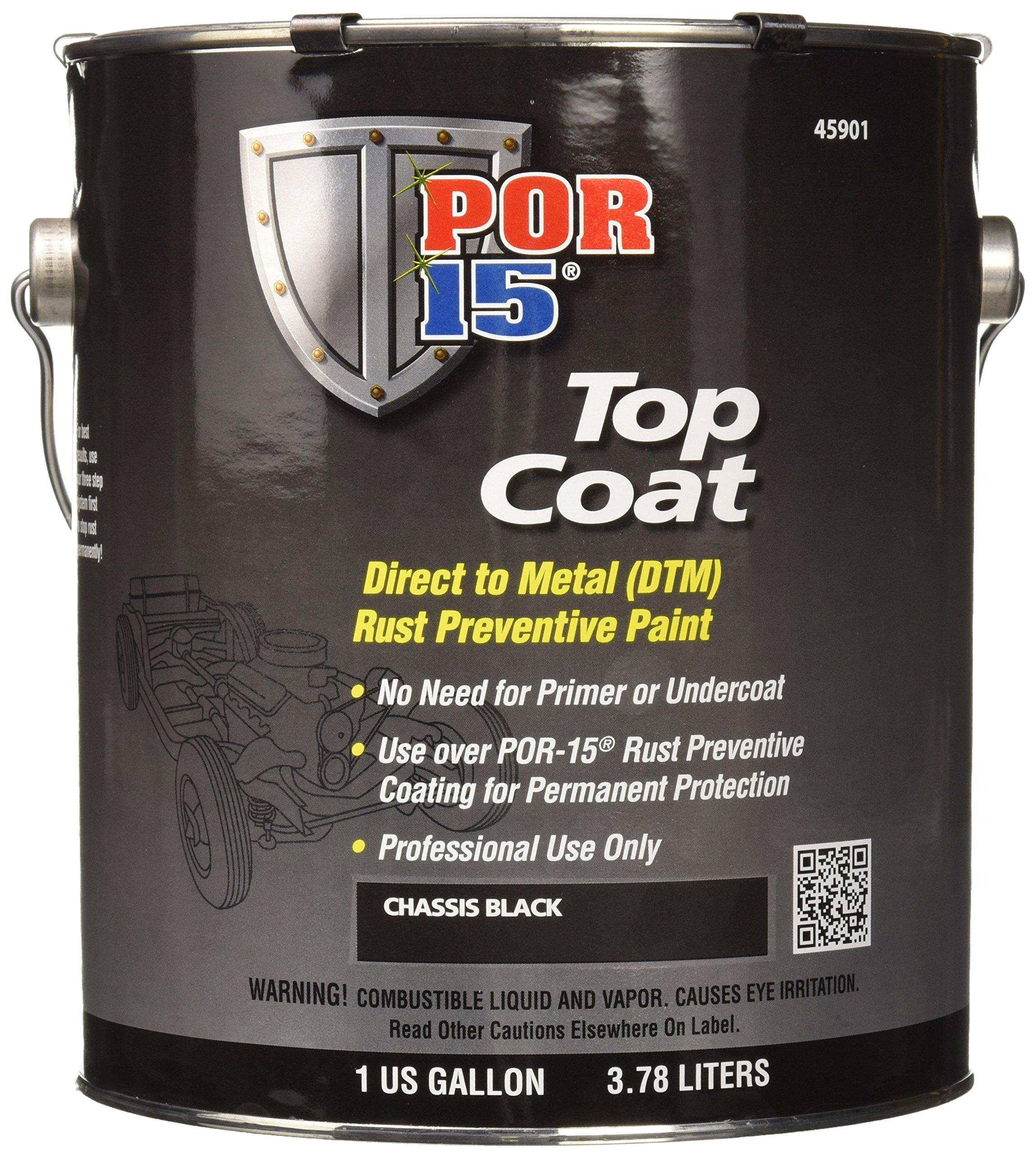 POR-15 45901 Chassis Black Top Coat - 1 gal by POR-15