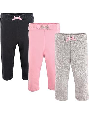 86a8167d7c1c85 Luvable Friends Baby Girls' Leggings, 3 Pack. #2