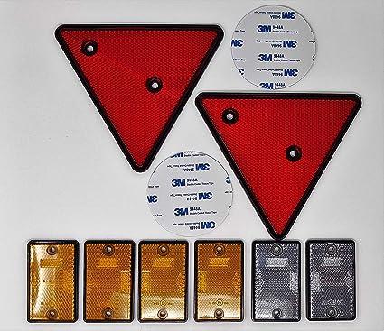 Pack de 12 MULTI-PURPOSE Réflecteurs Auto ADHESIVE Stick Rouge Remorque Caravane