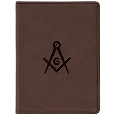 f8bd015d487d Amazon.com | Freemason Symbol Brown Leather Passport Holder - Laser ...