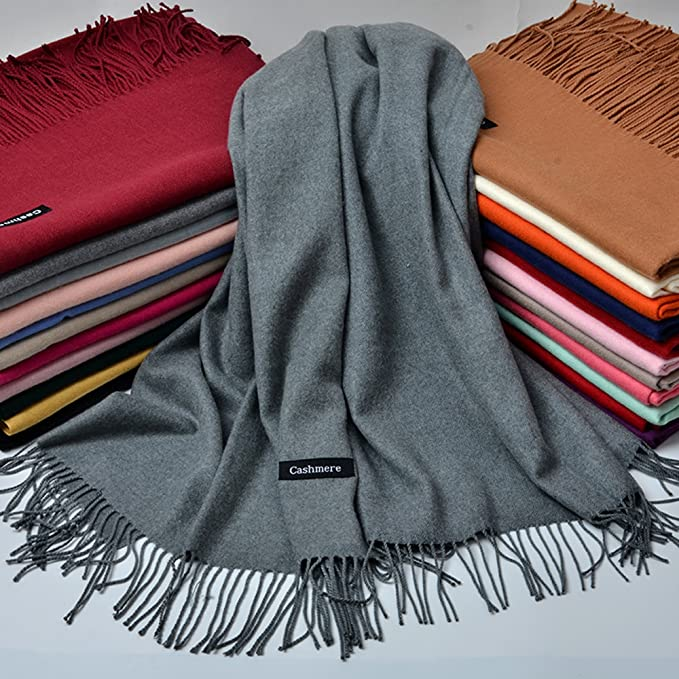 iEverest Sciarpa Super Morbido Colore Solido Sciarpa per Uomini e Donne  Inverno Caldo Grande Sciarpa di Spessore Avvolge Scialle Lungo Sciarpe 200    70cm ... b8f84d8e6743