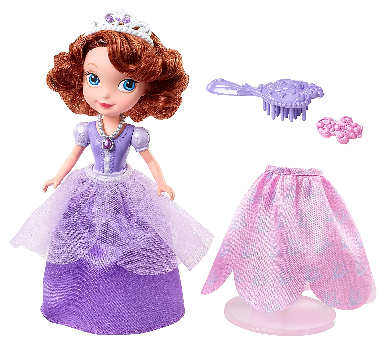 Disney Sofia The First Perfect Princess Curtsy Doll Fiction Peplum Dress Purple Toys Games