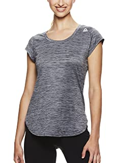 9ca37e99cf5d Reebok Women's Plus Size Legend Performance Short Sleeve T-Shirt with  Polyspan Fabric