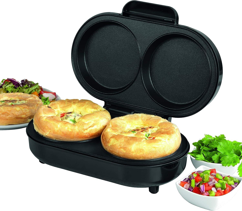 Stainless Steel 850/W 0,8/l Fassungsverm/ögen EU-Stecker SALTER EK4213VDEEU7 XL Twin Zweifach bef/üllbarer Omelette-Maker mit Antihaftbeschichtung/