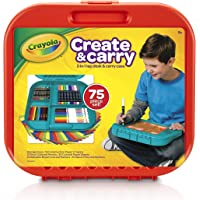 75 Pieces Crayola Create 'n Carry Case Portable Art Tools Kit