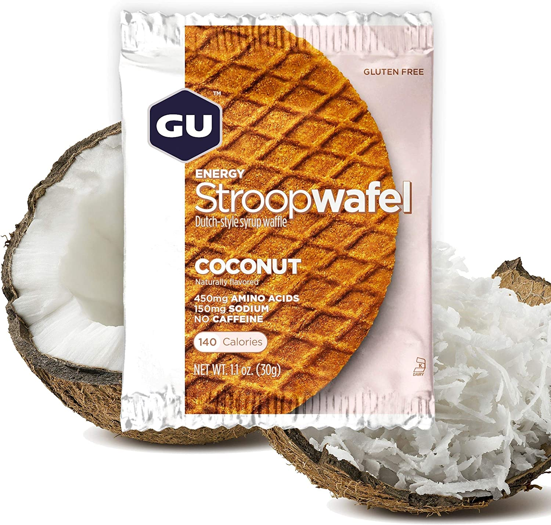 GU Energy Stroopwafel Sports Nutrition Waffle, 16-Count, Gluten Free Coconut