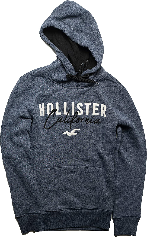 Hollister Men's Hoodie Sweatshirt Pullover (Red Pullover