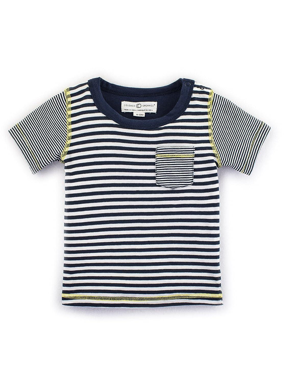 2019年新作 Colored Organics Baby Boys有機エベレスト半袖Tee Baby 18 - 24 Months 24 Anchor Anchor Stripe/ Matchstick Stripe B071XPMLS1, イワテグン:f0051cb8 --- a0267596.xsph.ru