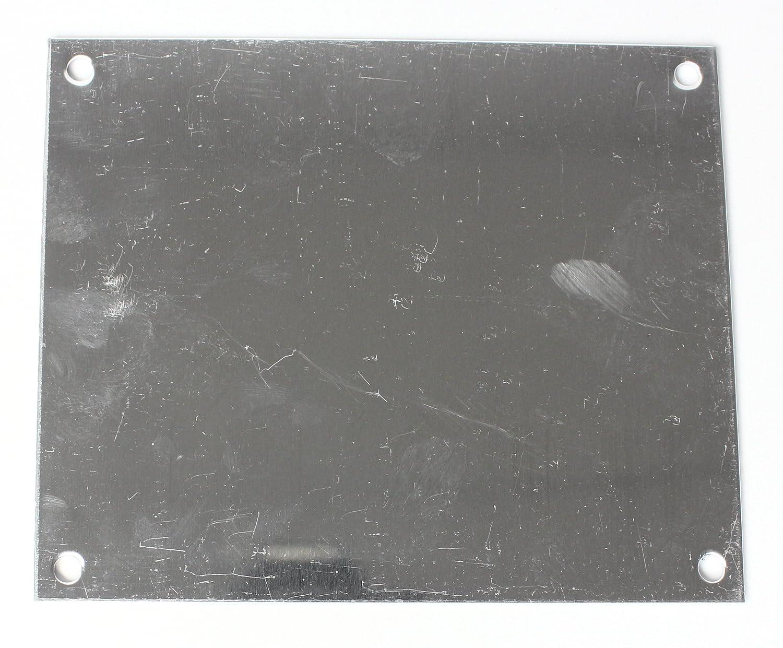 Buddel-Bini Aluminium Hausnummernschild 4 Aluschild 1 mm St/ärke Alu Schild