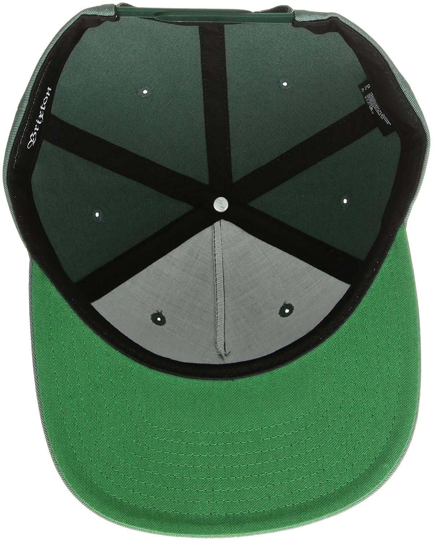 48d35cad51a68 Amazon.com  Brixton Men s Chase Medium Profile Adjustable Snapback ...