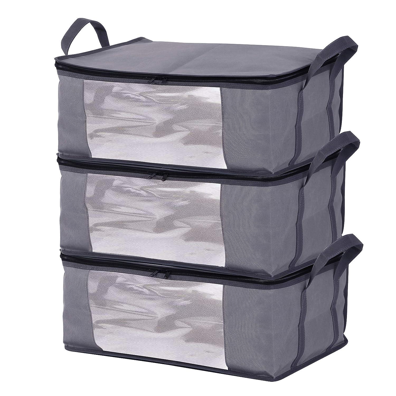 73389f65bd47 Storage Bins Storage Bags Sweater Storage Closet Organizer,Clothes Storage  Containers, Closet Organizers and Storage, Large Clear Window & Carry ...