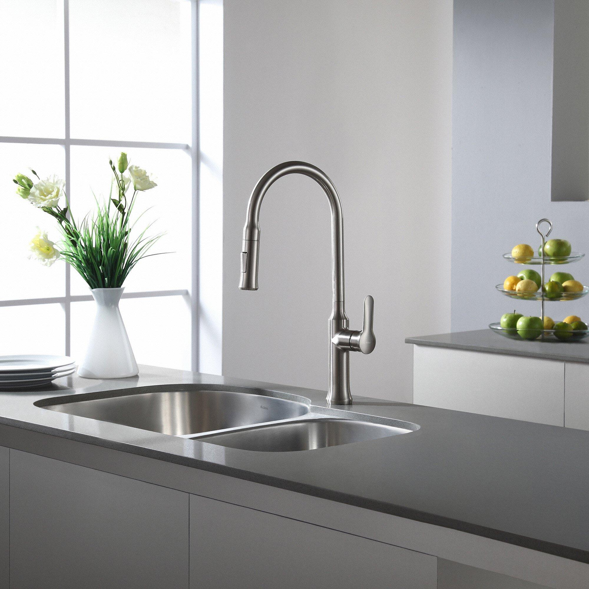 Kraus KBU21 30 inch Undermount 60/40 Double Bowl 16 gauge Stainless Steel Kitchen Sink by Kraus (Image #12)