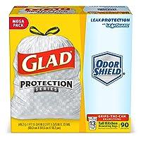 Deals on 90-CT Glad OdorShield Tall Kitchen Drawstring Trash Bags 13 Gallon