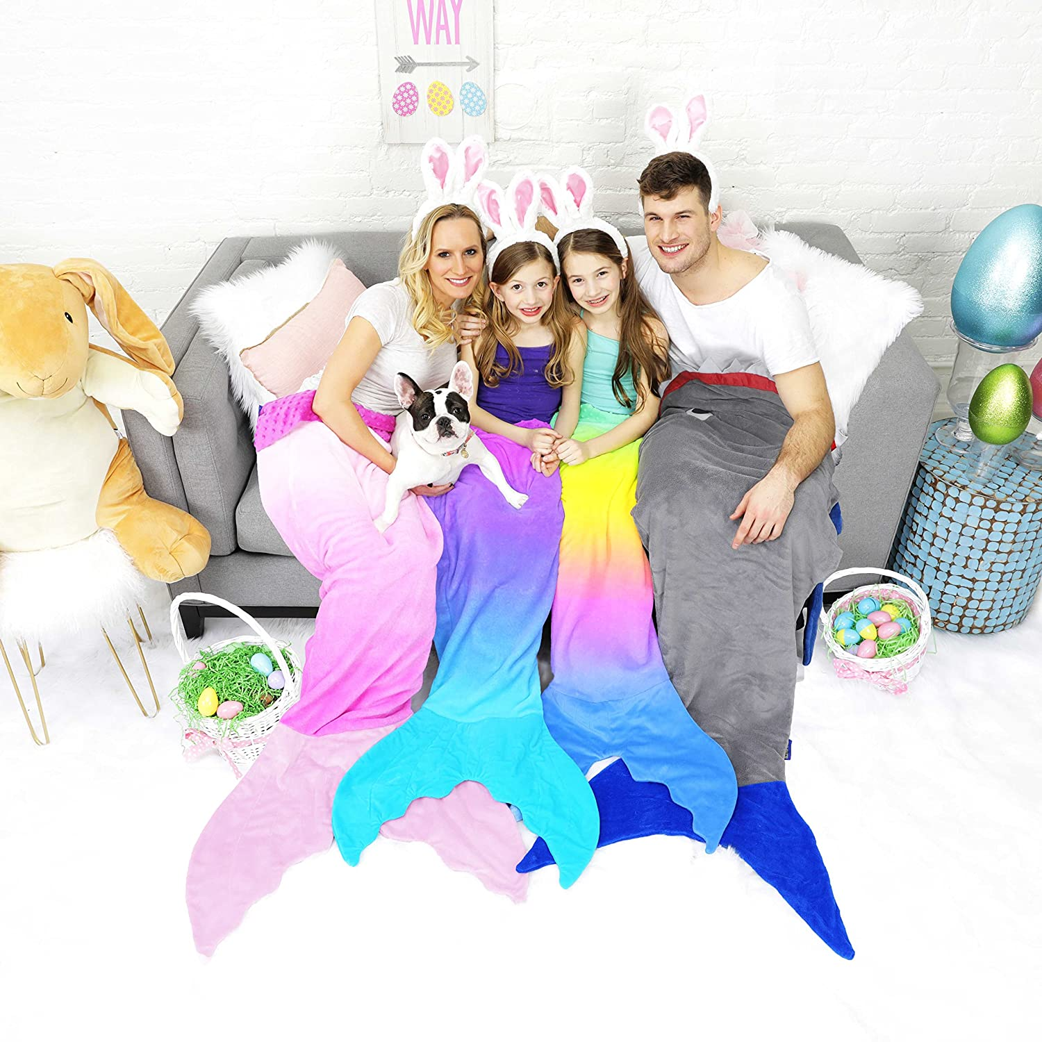Stunning Aqua Ombre Design Luxurious Minky Fleece Mermaid Tail for Teens or Adults Adult Mermaid Tail Blanket