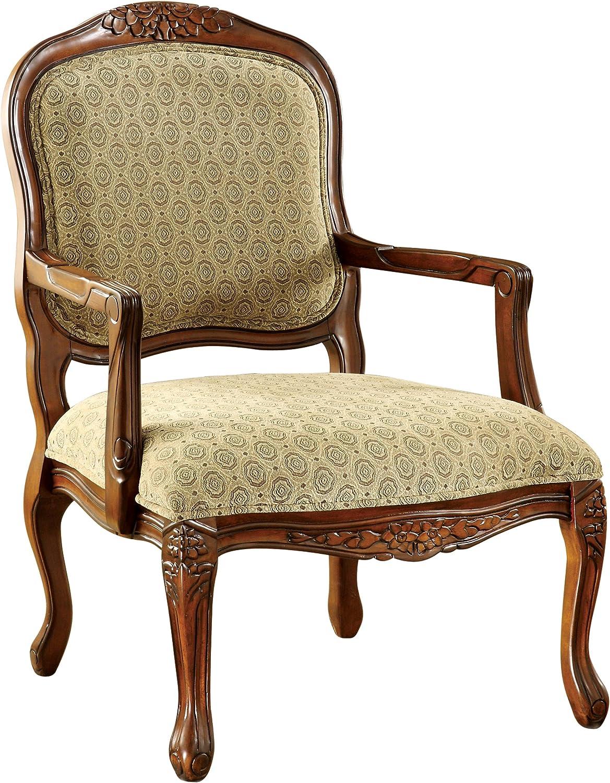 Furniture of America Sonoma English Style Armchair, Antique Oak