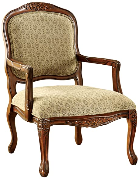 Furniture Of America Sonoma English Style Armchair, Antique Oak