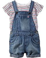 Carter's Baby Girl 2-Piece Tee & Shortall Set