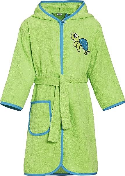 Playshoes Kinder Frottee-Bademantel Schildkrã¶te Mit Kapuze Traje de baño para Niños: Amazon.es: Ropa y accesorios