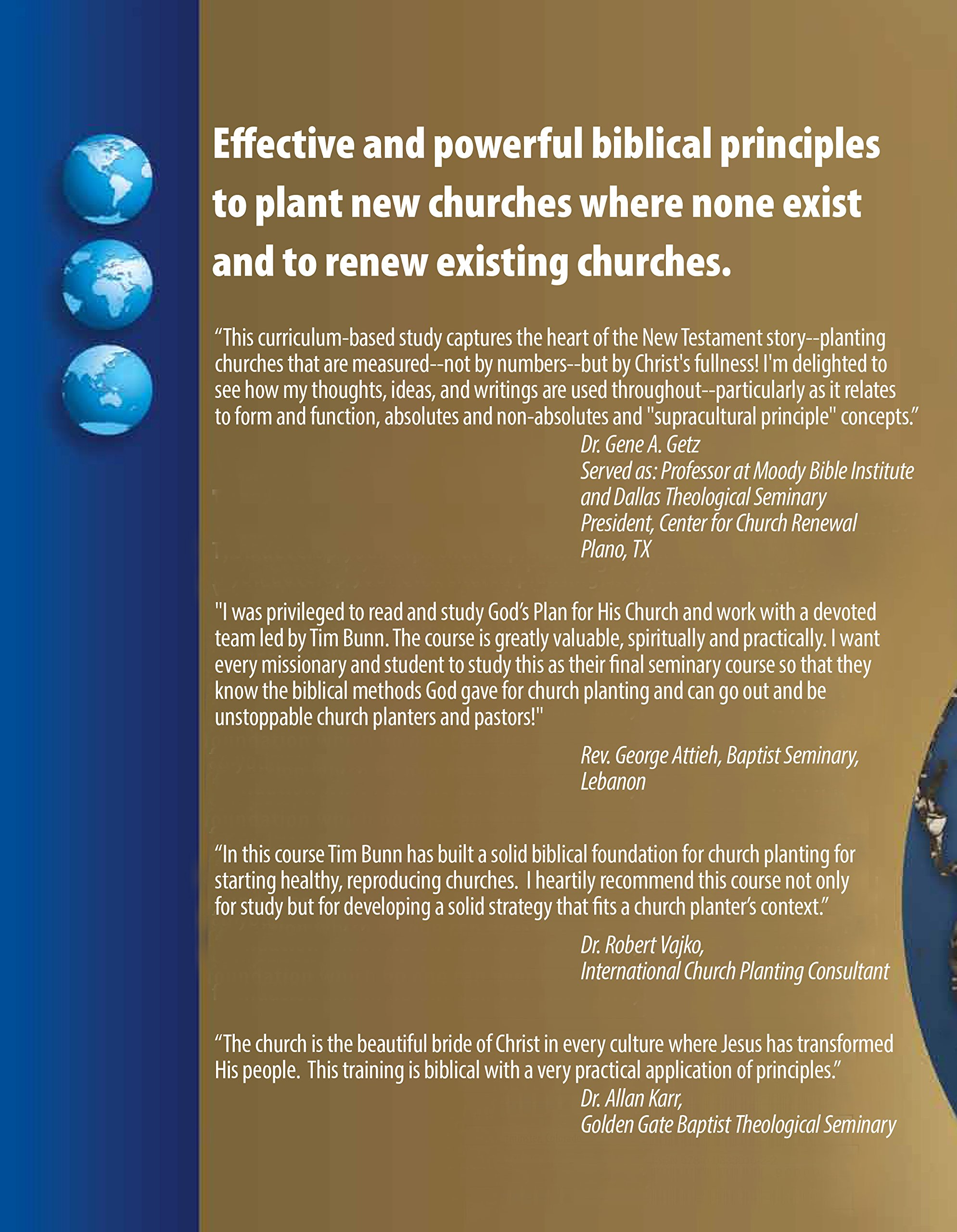 God's Plan for His Church : A Manual for Church Planting and Church Renewal:  Tim W Bunn: 9780983301622: Amazon.com: Books