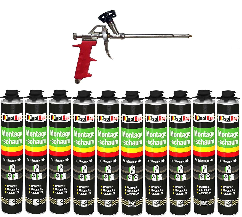 Set pistola de espuma (10 latas de 750 ml Espuma de montaje ...