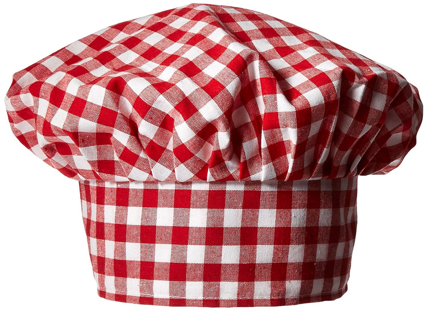 Gingham Fabric Chef's Hat (red) Party Accessory(1 count) (1/Pkg)