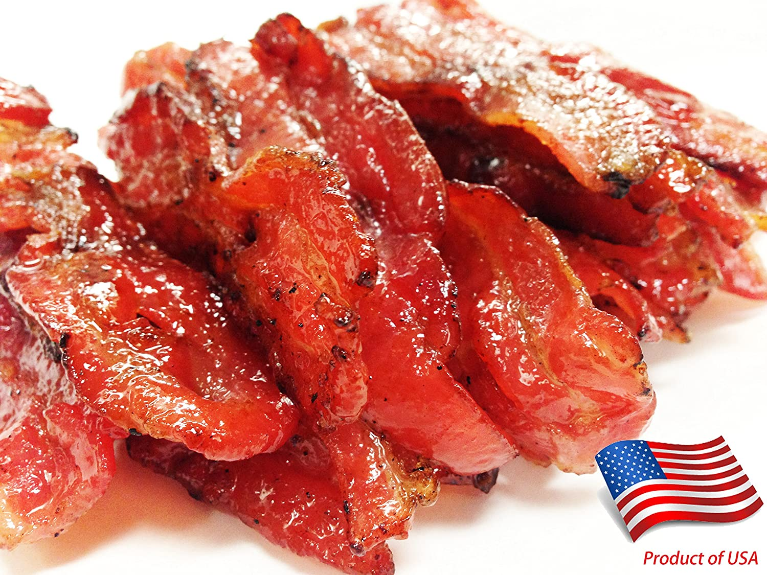 "Made to Order Fire-Grilled Oriental Bacon Jerky (Original Flavor - 4 Ounce) aka Singapore Bak Kwa - Los Angeles Times ""Handmade Gift"" Winner"