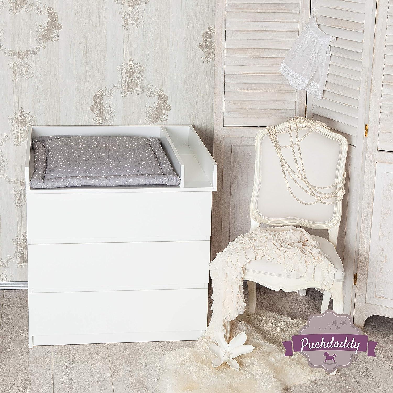 Trennfach in weiß für IKEA Malm Kommode Puckdaddy Baby Wickelaufsatz Rund