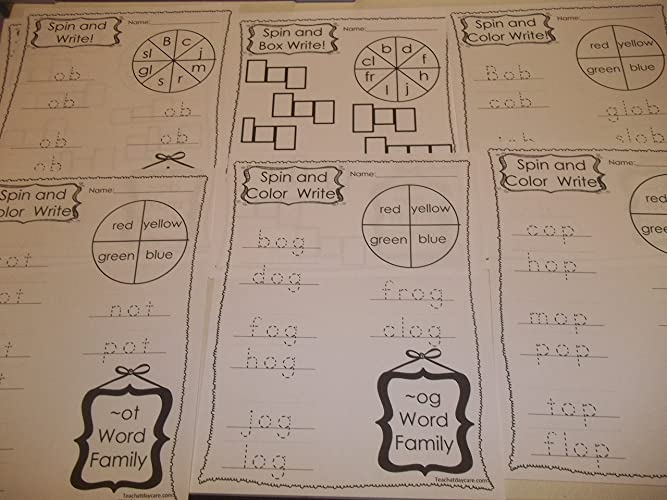Amazon.com: 264 Bulk Printed Preschool and Kindergarten Word ...