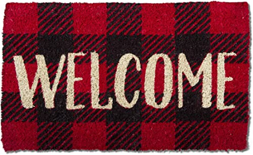 Tag Welcome Check Coir Doormat Indoor Outdoor Welcome Mat 1 6 x 2 6 Welcome Check