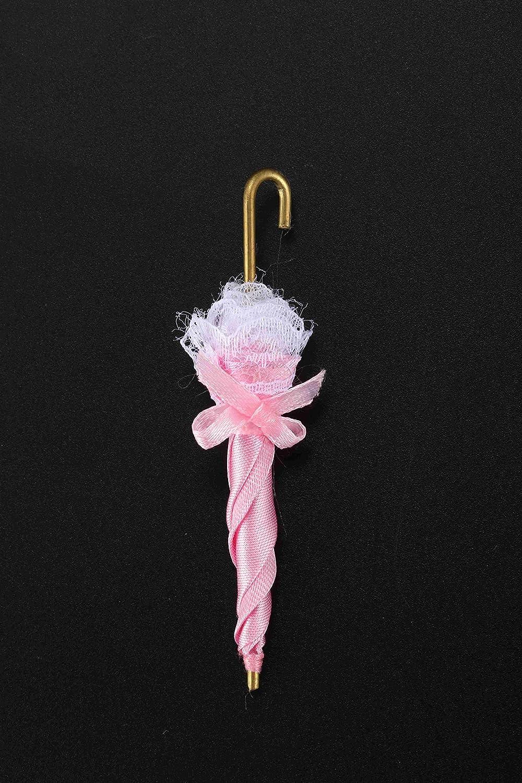 LBWNB 1//12 Puppenhaus Miniatur Royal Lady Lace Umbrella Dekoration Puppenhaus Zubeh?R Ziemlich Fein Rosa