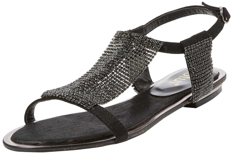Black sandals ebay uk - Image Is Loading 4 Uk Black Black Lotus Women S Agnetha