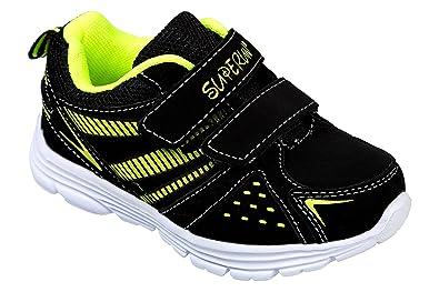 GIBRA Homme Chaussures de Sport avec fermeture Velcro jaune