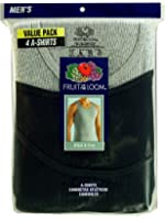 Fruit of the Loom Men's 4pk A-Shirts