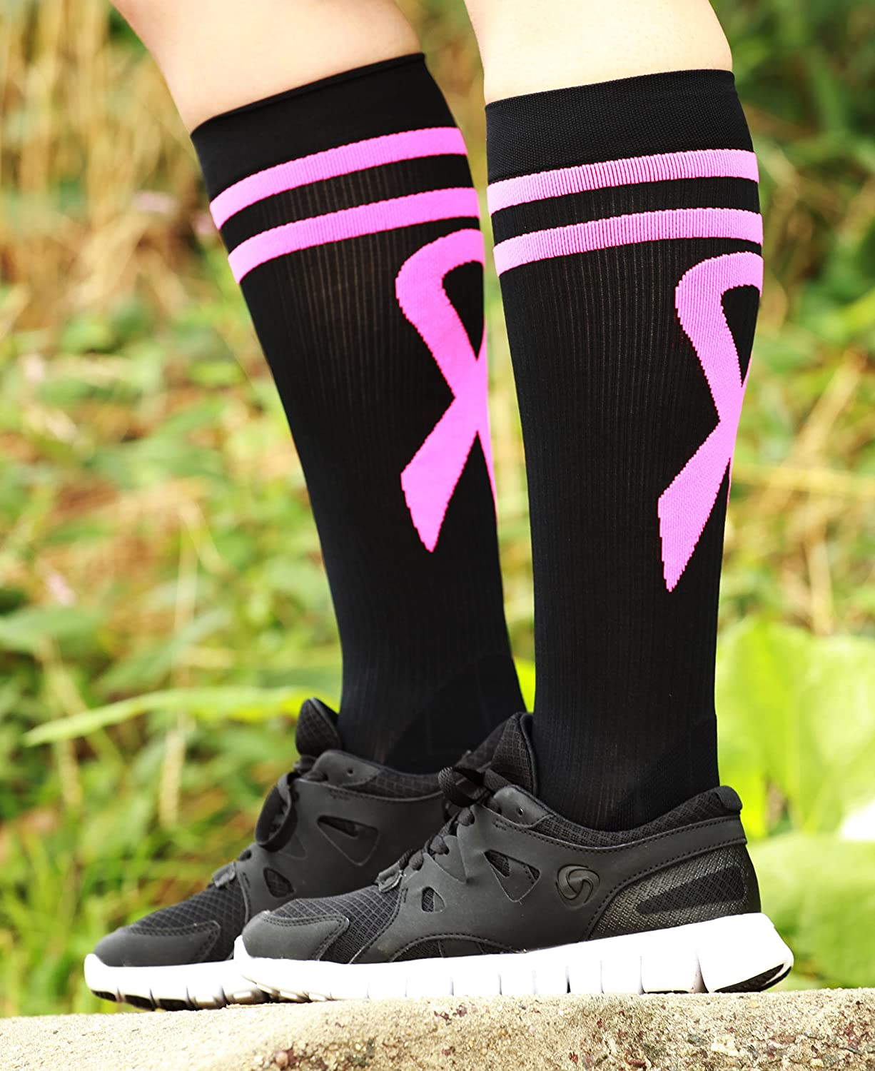 cabf31ad20 ... Mojo Compression Socks Special edition Breast Cancer Ribbon - Firm  Graduated Medical Compression with moisture Coolmax