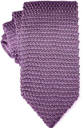 Corbata estrecha de punto púrpura | Accesorios para padrinos
