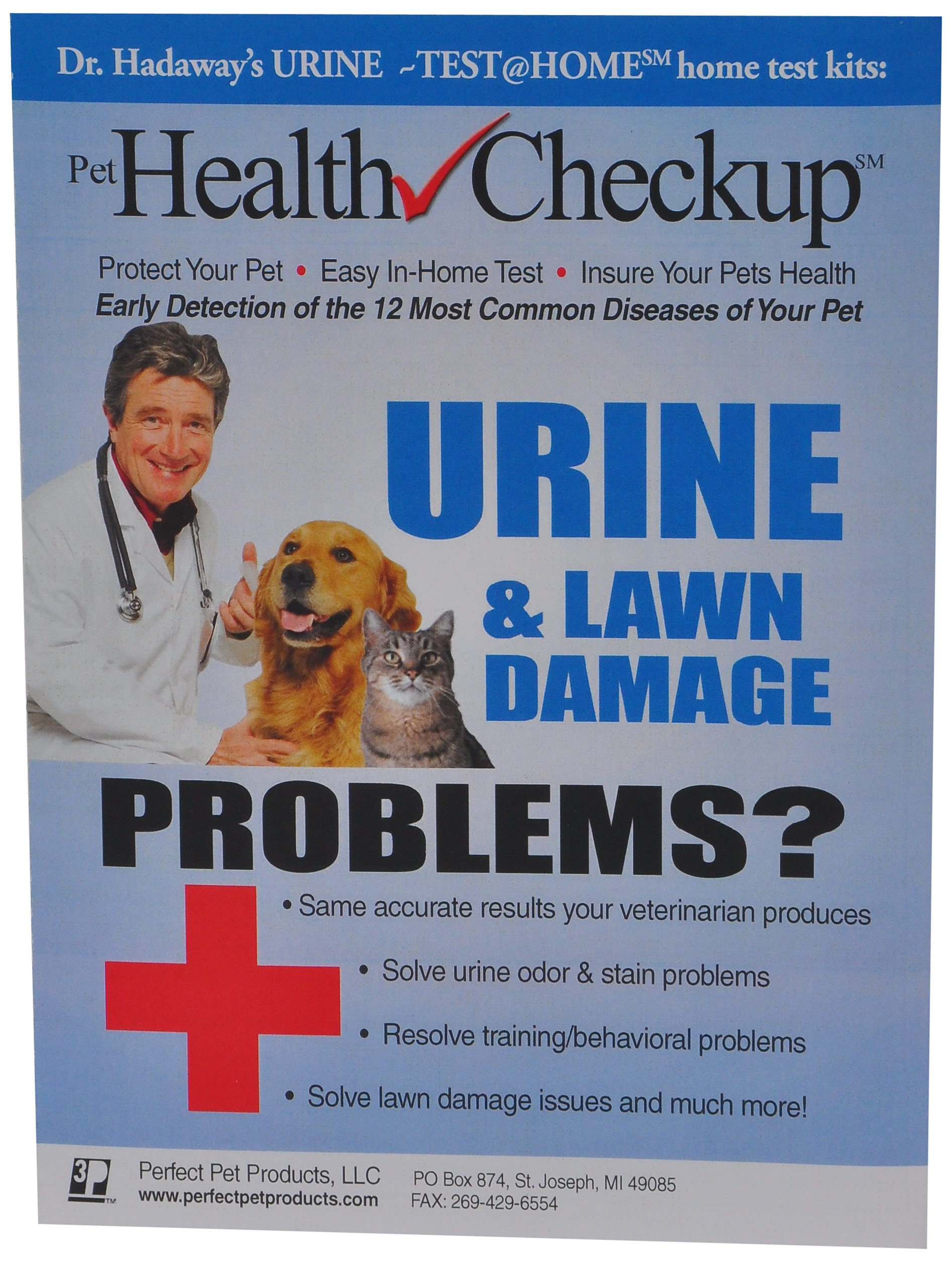 Pet Health Checkup AT HOME TEST Kit for urine infections, diabetes, pet disease, urinating in home or other training problems