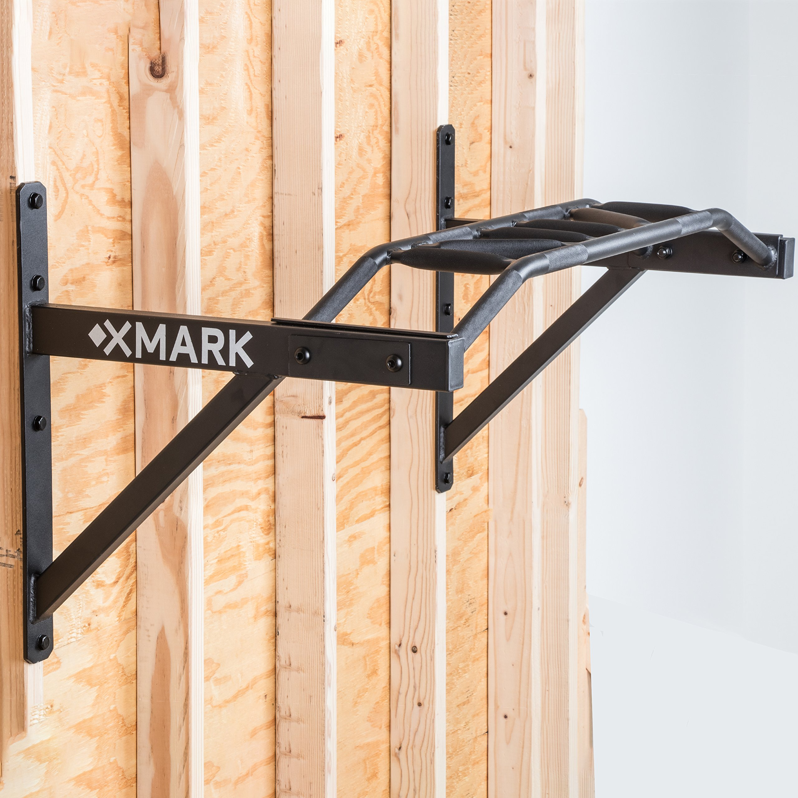 XMark Commercial Multi-Grip Wall Mounted Chin-Up Pull-Up Bar XM-9025 by XMark (Image #3)