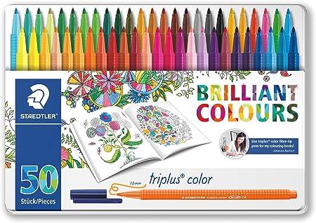 Staedtler Triplus Color 323 M50JB. Rotuladores de colores. Estuche con 50 marcadores. Edición Johanna Basford.: Amazon.es: Oficina y papelería