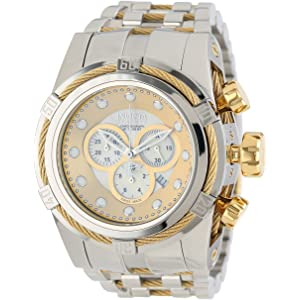 Invicta Mens 12746 Bolt Reserve Chronograph Champagne Mother-Of-Pearl Dial Stainless Steel Watch