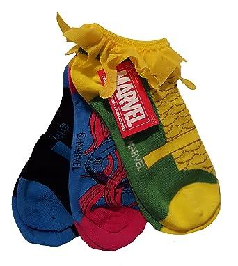 Marvel Loki / Medusa / Black Bolt Womens 3 Pair Low Rise Socks (Size 9