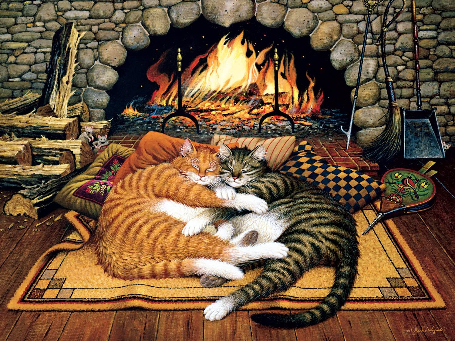 Buffalo Games - The Cats of Charles Wyoscki - All Burned Out - 750 Piece Jigsaw Puzzle
