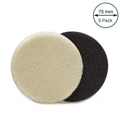 GP16014 PRO-Line Premium Wool Detailing Pad, Superfine Wool Polishing Pad/Diameter 3 inch/Pack of 3 Pads: Automotive