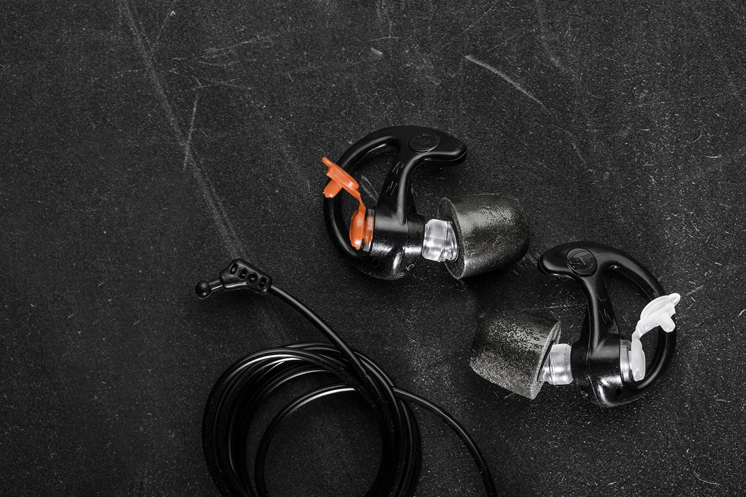 Earpro Sonic Defenders Ultra Foam-Tipped Earplugs (EP7), 28 dB, Large, Black, 1 Pair by SureFire