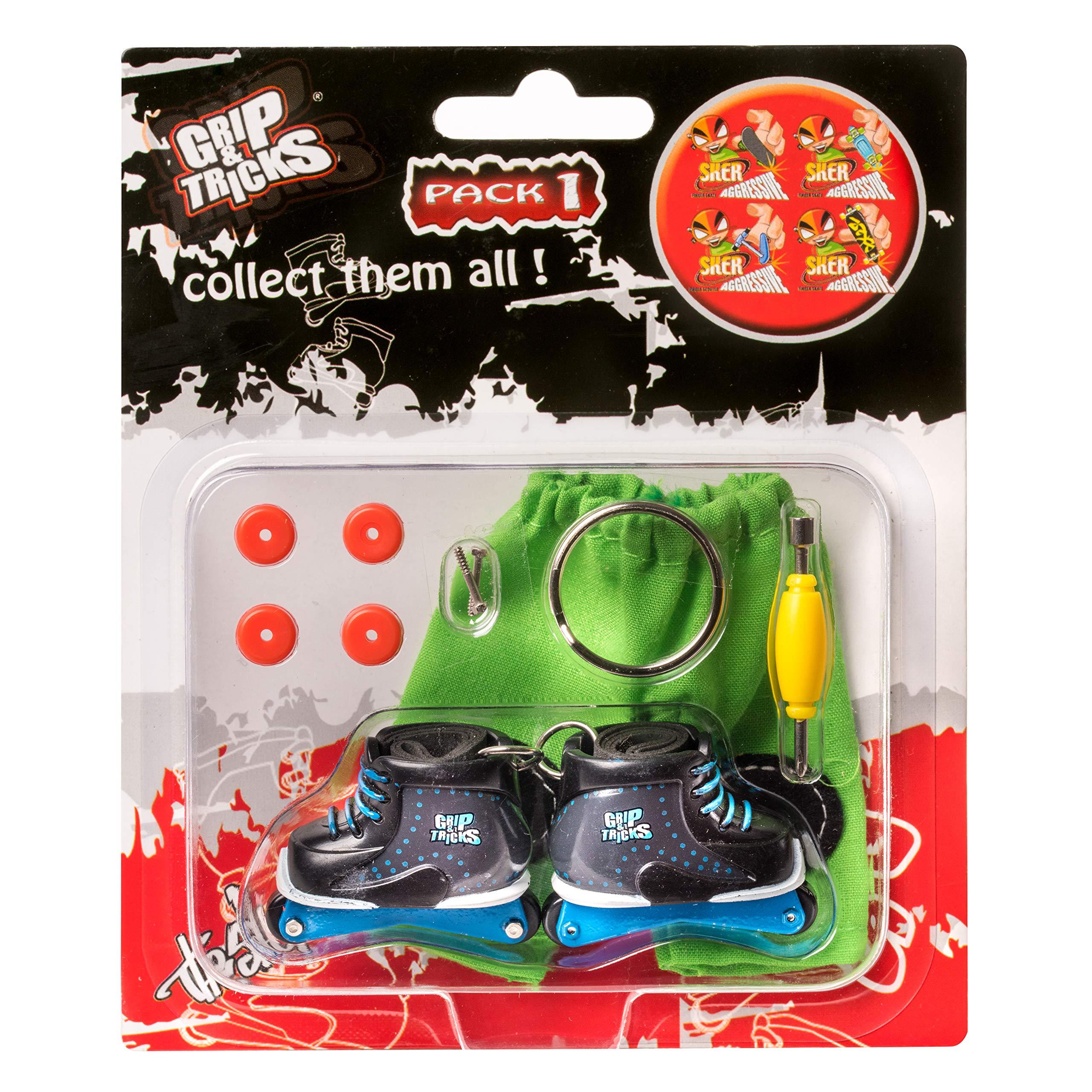 Grip & Tricks - Finger Roller - Mini Inline Skates Freestyle Pack1