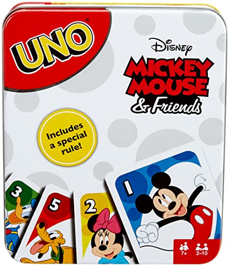 2ea82435660 Amazon.com: Mattel Games UNO Tin Mickey Mouse & Friends Card Game: Toys &  Games